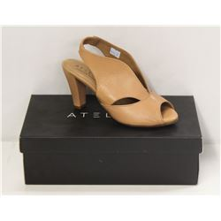 ATELIERS SZ 7.5 SOFTY NUDE DOWNEY-LEATHER HEELS