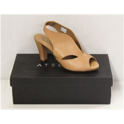 ATELIERS SZ 9.5 SOFTY NUDE DOWNEY-LEATHER HEELS