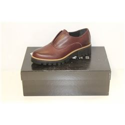 ATELIERS SZ 6 BORDO' VELVET BARTON LEATHER SHOES