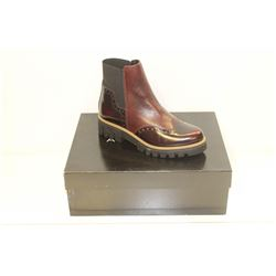 ATELIERS SZ 6 BORDO' SPLENDOR BARNEY LEATHER BOOTS