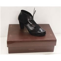 NEOSENS SZ 6 DARK EBONY RESTORED SKIN PUMPS