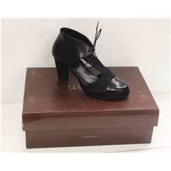 NEOSENS SZ 7.5 DARK EBONY RESTORED SKIN PUMPS