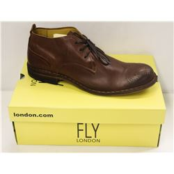 FLY LONDON SZ 10.5 TAN SOAR SEBTA SHOES