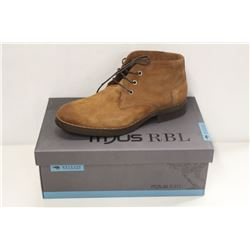 MJUS RBL SZ 8.5 TAN MID RISE LEATHER SHOES