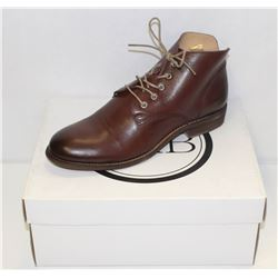 FAB SZ 8 BROWN MATIX MID RISE LEATHER SHOES