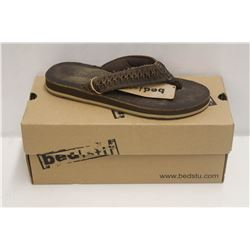 BEDSTU SZ 8 SCULPIN BROWN LEATHER SANDAL