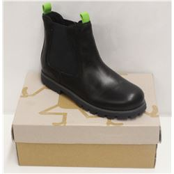 CAMPER FOR KIDS SZ 3 BLACK LEATHER HI-TOP BOOTS