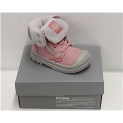 PALLADIUM INFANT'S SZ 5 BAGGY LEATHER BOOT-PINK