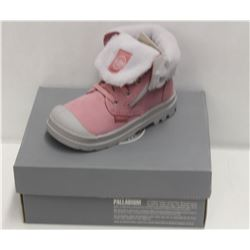 PALLADIUM INFANT'S SZ 8 BAGGY LEATHER BOOT-PINK