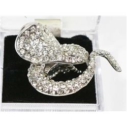 RHINESTONE COBRA RING