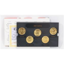 2001 US GOLD EDITION MINT STATE QUARTER SET.
