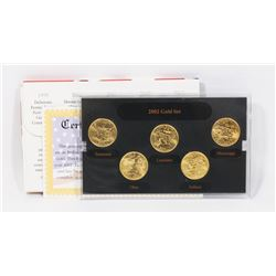 2002 US GOLD EDITION MINT STATE QUARTER SET.