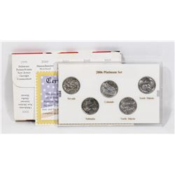2006 US PLATINUM EDITION MINT STATE QUARTER SET.