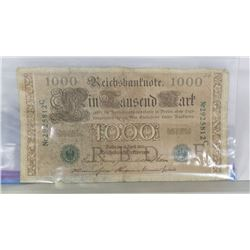 1910 GERMAN 1000 MARK BILL.