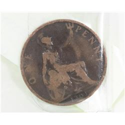1901 ENGLISH LARGE PENNY.