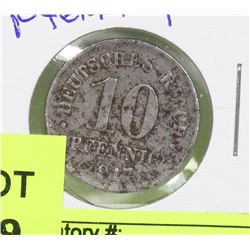 1917 GERMAN 10 PFENNING