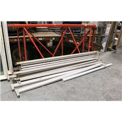 PAIR OF PALLET RACKING UPRIGHTS W/12 BEAMS