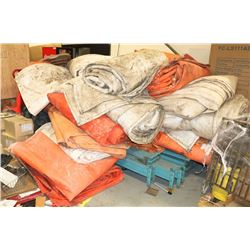 LARGE LOT OF COMMERCIAL INSULATED TARPS