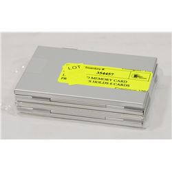 LOT OF 2 SD MEMORY CARD PROTECTORS HOLDS 6 CARDS