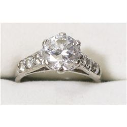 .925 SILVER ENGAGEMENT STYLE RING