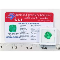 #108-NATURAL GREEN EMERALD LOOSE GEMSTONE 8.23CT