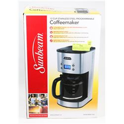 SUNBEAM 12 CUP STAINLESS STEEL PROGRAMMABLE COFFEE