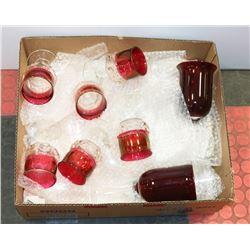 BOX W/12-PC GLASSWARE SET, 4 WATER