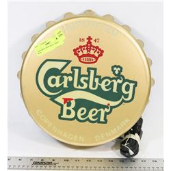 CARLSBERG BEER WALL LIGHT 12  WIDE