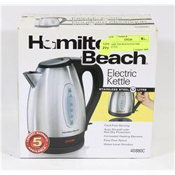 HAMILTON BEACH ELECTRIC KETTLE.
