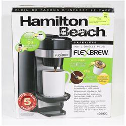 HAMILTON BEACH FLEX BREW COFFEE MAKER.