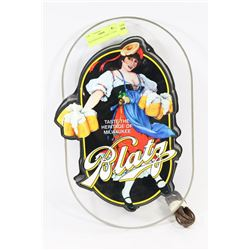 "BLATZ BEER WALL LIGHT 17"" TALL"