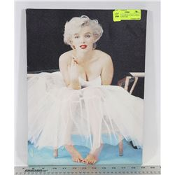 MARILYN MONROE IN WHITE DRESS CANVAS PICTURE