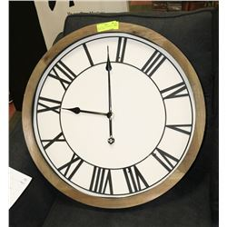 "NEW LARGE 24"" DISTRESSED WOOD WALL CLOCK"