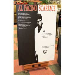LARGE AL PACINO SCARFACE CANVAS POSTER