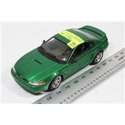 GREEN MAISTO MUSTANG GT DIECAST CAR -