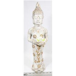 CHINESE BUDDHA STATUE W/TEALIGHT