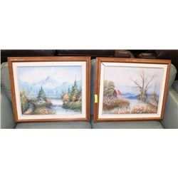 LOT OF 2 FRAMED PICTURES