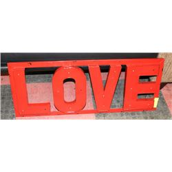 "SHOWHOME RED METAL LOVE SIGN 35""X14""."