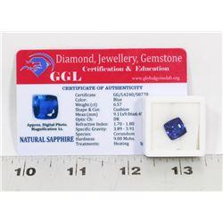 #93-NATURAL BLUE SAPPHIRE GEMSTONE 6.57 CT