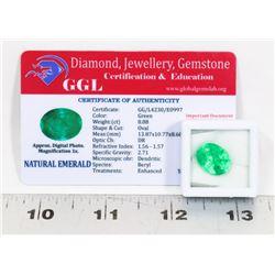 #114-NATURAL GREEN EMERALD LOOSE GEMSTONE 8.88CT