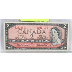 1954 CANADIAN $2 BILL