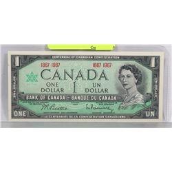 GEM UNC 1967 CANADIAN NO SERIAL # CENTENNIAL $1