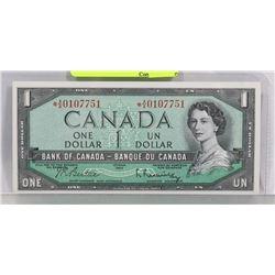 GEM UNC 1954 ASTERISK A/A REPLACEMENT $1 BILL