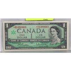 GEM UNC1967 ASTRISK B/M REPLACEMENT CENTENNIAL $1