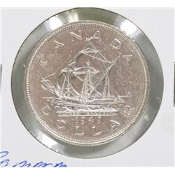 1949 CANADIAN COMMEMORATIVE SILVER $1 COIN