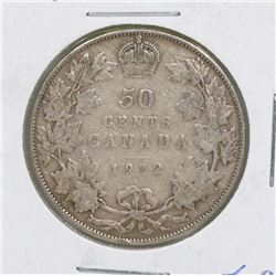 1912 GV CANADIAN SILVER 50 CENT COIN