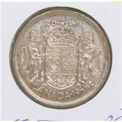 1955 QEII CANADIAN SILVER 50 CENT COIN