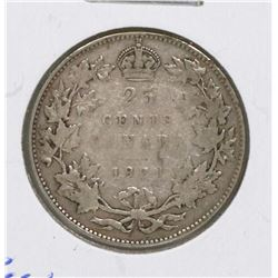 KEY DATE 1921 GV CANADIAN SILVER 25 CENT COIN