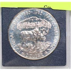1985 NATIONAL PARKS SPECIMEN SILVER $1 COIN