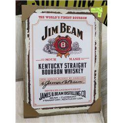 NEW JIM BEAM KENTUCKY BOURBON WHISKEY FRAMED